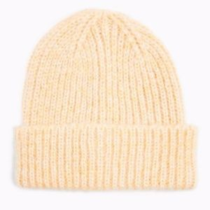 Topshop apricot beanie ribbed ladies women's